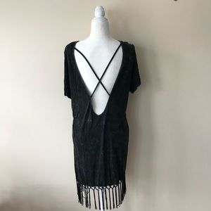 Open back fringe festival dress
